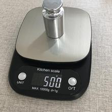 10kg/1g LCD Digital Electronic High Precision Food Weighing Kitchen Scale Tool digital kitchen food scale 22lbs 10kg precision food scale lcd display tempered glass surface touch screen