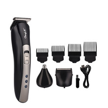 3 In 1 USB Rechargeable Electric Beard Trimmer Nose Ear Hair