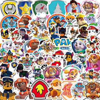 100pcs/set PAW Patrol Toys Car Dog 3d Stickers Puppy Birthday Travel Case Luggage Notebook Pvc Sticker Waterproof Toy Party Gift