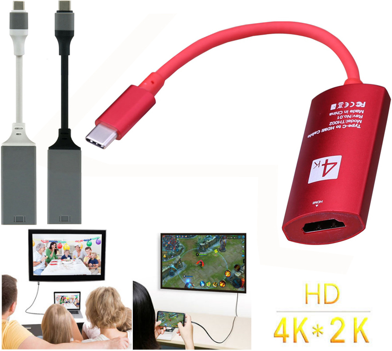 Type C To HDMI Female Hd Video Cable Adapter 4K Converter For Macbook DELL Samsung Galaxy S8 S9 S10 Note8 LG G5 To TV Projector