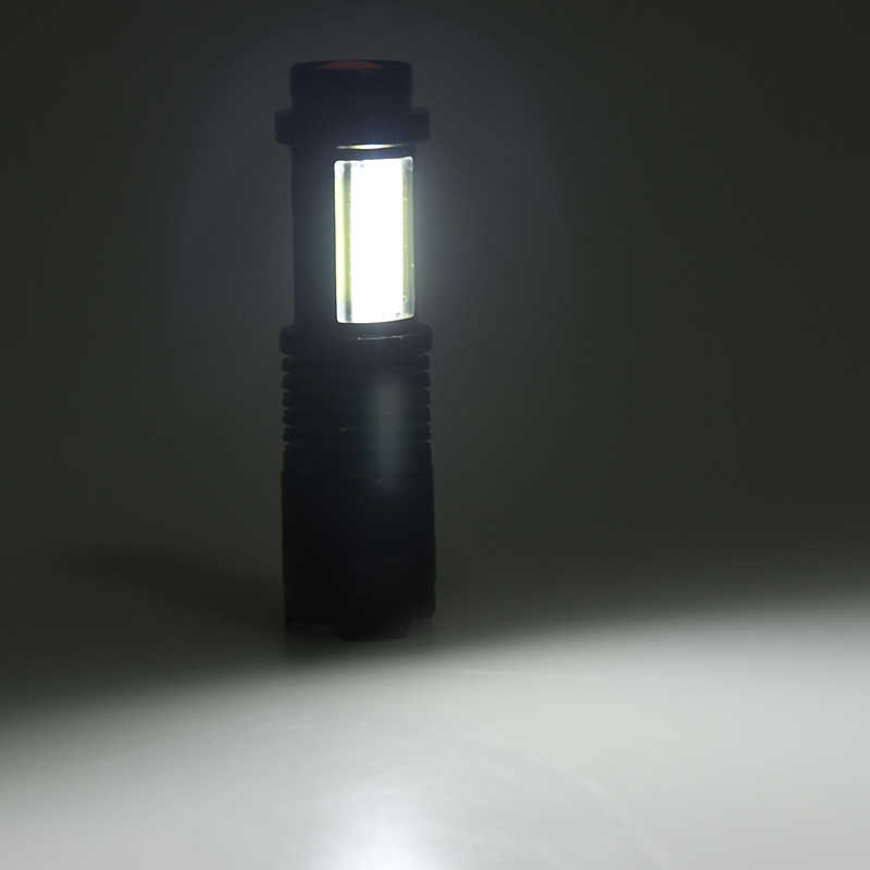 Litwod Z93-LED MINI latarka XP-E Q5 COB latarka soczewka powiększająca aluminium 4 tryby użyj 14500 lub baterii AA lampka przenośna na kempingu