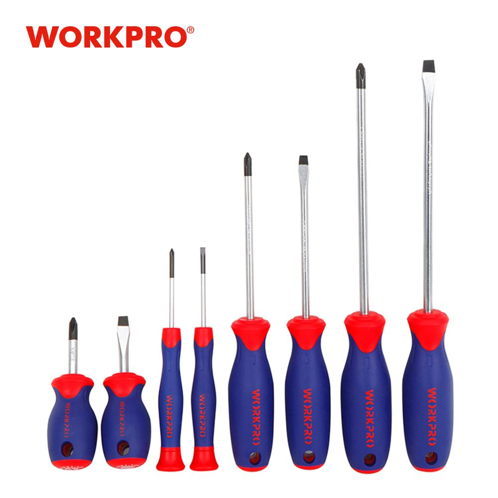 WORKPRO 8PC Screwdrivers Set Slotted/Phillips Screwdriver Precision Screwdrivers For Phone PC Electronics