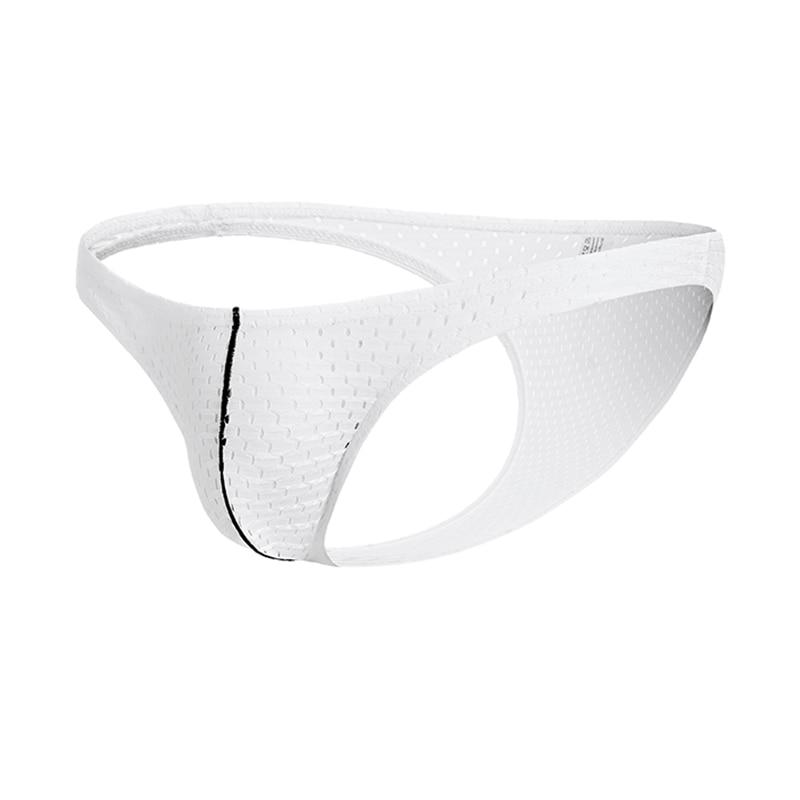 Mens Seamless Elastic Underpants Mesh Convex Breathable Triangle Briefs Panties