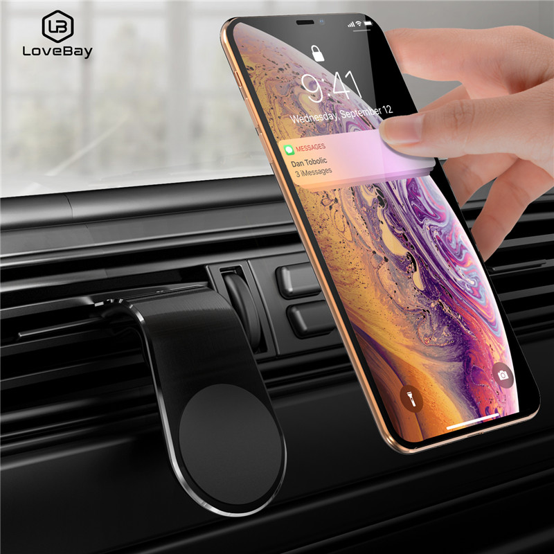 Lovebay Metal Magnetic Car Phone Holder Mini Air Vent Clip Mount Magnet Mobile Stand For Tablet And Smartphones Suporte Telefone