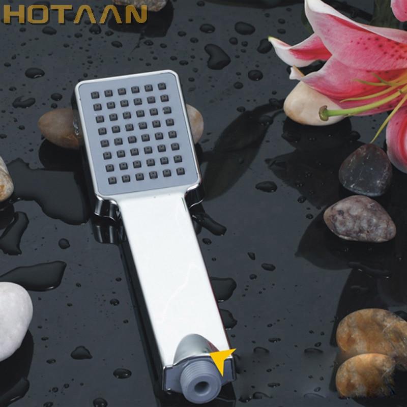 Free Shipping Retail & Wholesale Solid ABS Square Hand Shower Luxury Batnroom Rain Hand Shower Head Chrome Finish YT-5108