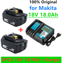 2021s bl1860 bateria recarregável 18 v 18000mah íon de lítio para makita 18 v bateria bl1840 bl1850 bl1830 bl1860b lxt 400 + carregador