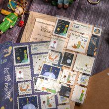 Washi conjunto de adesivos de papelaria do vintage adesivo carimbo do carimbo pequeno príncipe cogumelo diy etiqueta decorativa para scrapbooking álbum