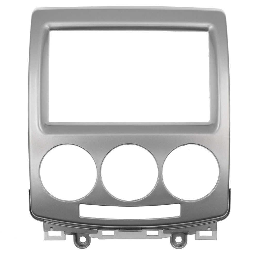 CD DVD Panel Stereo dla FORD i-Max 2007 + MAZDA 5 Premacy 2005 + 2 Din Audio ramka wykończeniowa radia CD zestaw paneli wykończeniowych do montażu deski rozdzielczej płyta