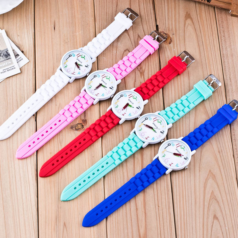 Silicone Watches Children Pencil Pointer Student Watch Quartz Wristwatches Gift Watches Hot Sales