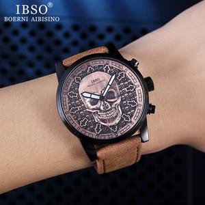 Image 2 - IBSO メンズ腕時計防水腕時計 2019 クリエイティブスカル腕時計クォーツ腕時計ハロウィン男性腕時計時計ギフト