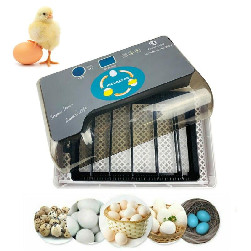 Цифровой автоматический 4 35 яиц инкубатор аппарат для искусственного высиживания для утиных птиц гуся - 2
