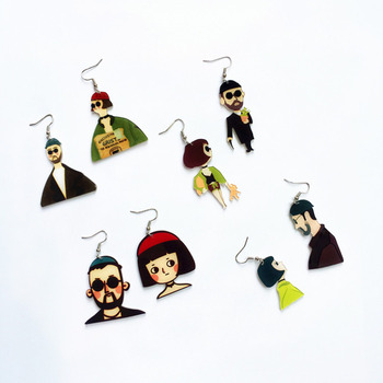 Korea Harajuku Asymmetri Cute Mathilda Leon The Professional Humanoid Drop Earrings Creative Cartoon Earring Girl Funny.jpg 350x350 - Home Page