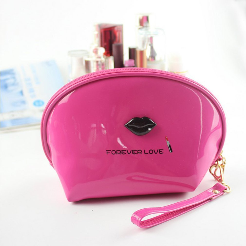 Mirror Leather Candy Color Cosmetic Bag