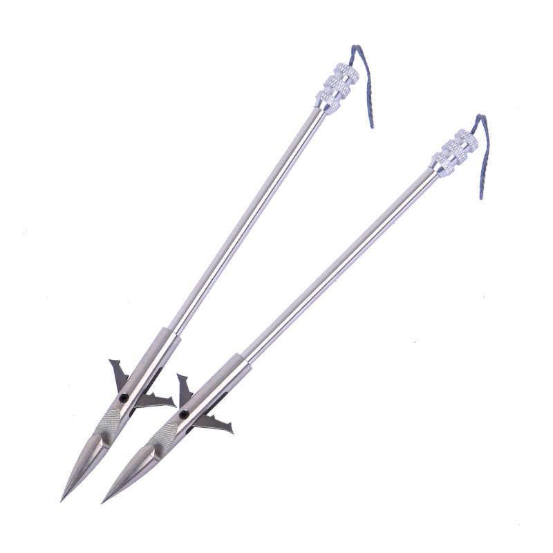 5/10 pièces acier inoxydable flèche fronde accessoires chasse tir pêche Projectile fléchettes harpon