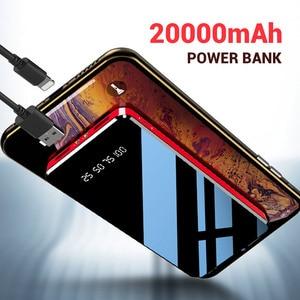Image 5 - FLOVEME Power Bank 20000mAh Dual USB กระจกหน้าจอจอแสดงผล LED Powerbank ชาร์จแบบพกพาสำหรับ Xiaomi ภายนอกแบตเตอรี่ Poverbank