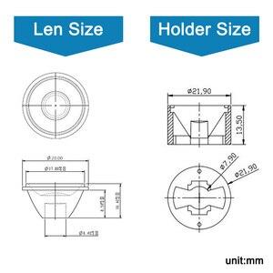 Image 3 - 10Set High Power 1W 3W 5 W Led Lens 20Mm Pmma Lenzen Met Beugel 5 8 15 25 30 45 60 90 120 Graden Voor 1 3 5 Watt Licht Kralen