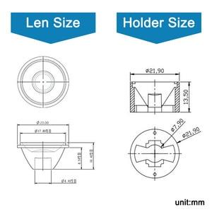 Image 3 - Lot de 10 lentilles PMMA haute puissance avec support, lentilles 1W 3W 5 W LED, 5 8 15 25 30 45 60 90 120 degrés pour perles lumineuses de 1 3 5 watts