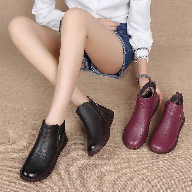 Zapatos Mujer Echtem Leder frauen Winter Stiefel Handgemachte Retro Zip Frauen Stiefeletten Winter Frühling Damen Schuhe g934