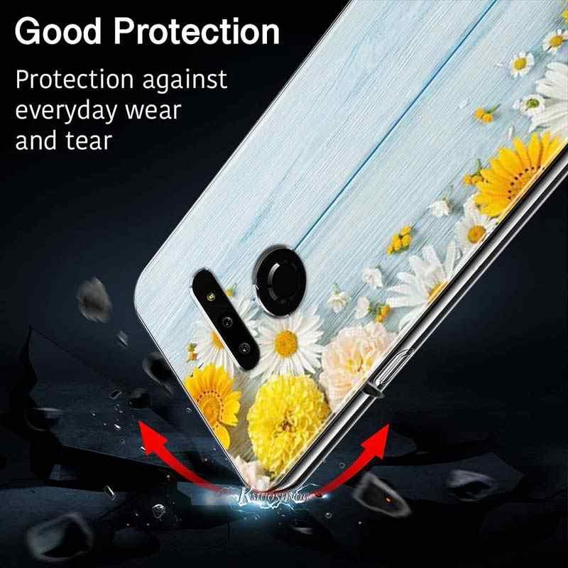 Hoa Trên Đá Cẩm Thạch Phong Cách Cho LG W20 W10 V50S V50 V40 V30 K50S K40S K30 K20 Q60 Q8 Q7 Q6 g8 G7 G6 Thinq Ốp Lưng Điện Thoại
