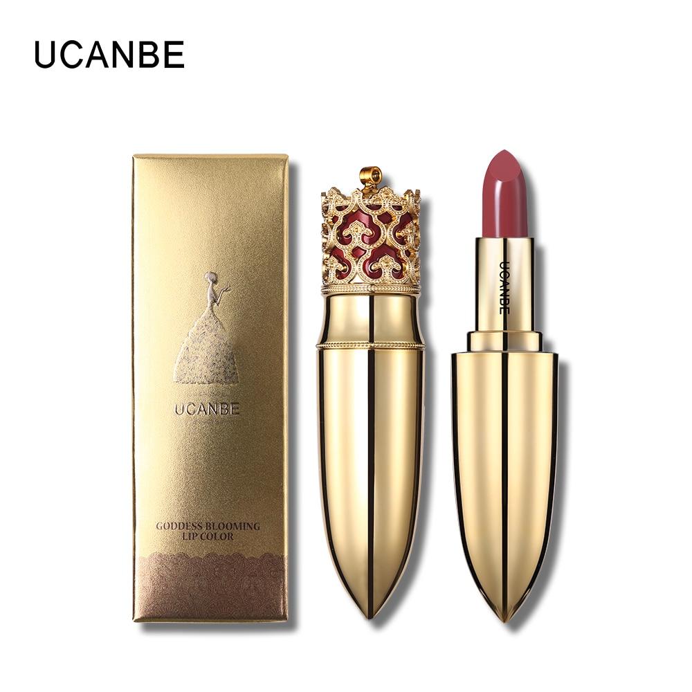 UCANBE Luxury Color Lipstick Nude Velvet Matte Lip Stick Long-lasting Moisturizer Batom Sexy Pigments Women Beauty Cosmetics