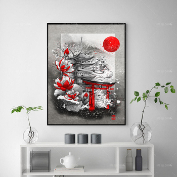 Home Decor Hd Poster And Prints Pavilion Flowers Picture Vintage Canvas Painting Wall Art Modern For Living Room Cuadros Modular