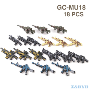 Image 5 - 21PCS AKปืนไรเฟิลอาวุธปืนทหารMiniทหารWW2ชุดBuilding Blockอิฐล็อคเด็กของเล่นเด็ก