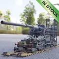 In Stocks German 80cm K[E] Railway Dora 3846pcs Building Blocks Brick KZ10005 Children Gift Cannon E Railway GUN WW2