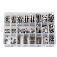 1080PCS M2/M3/M4 Stainless Steel Hex Socket Bolt and Nuts Set Fastener Hardware Hexagon Socket Head Cap Screws Flat Washer with цена