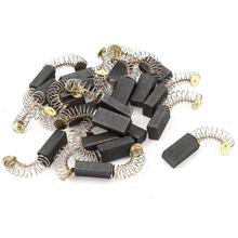 цена на 10 Pcs Mini Drill Electric Grinder Replacement Carbon Brushes Spare Parts For Electric Motors Dremel Rotary Tool 4 Sizes