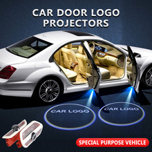 2pcs/lot For Mercedes-Benz Welcome Light Car Door Logo Projector Shadow Lamp