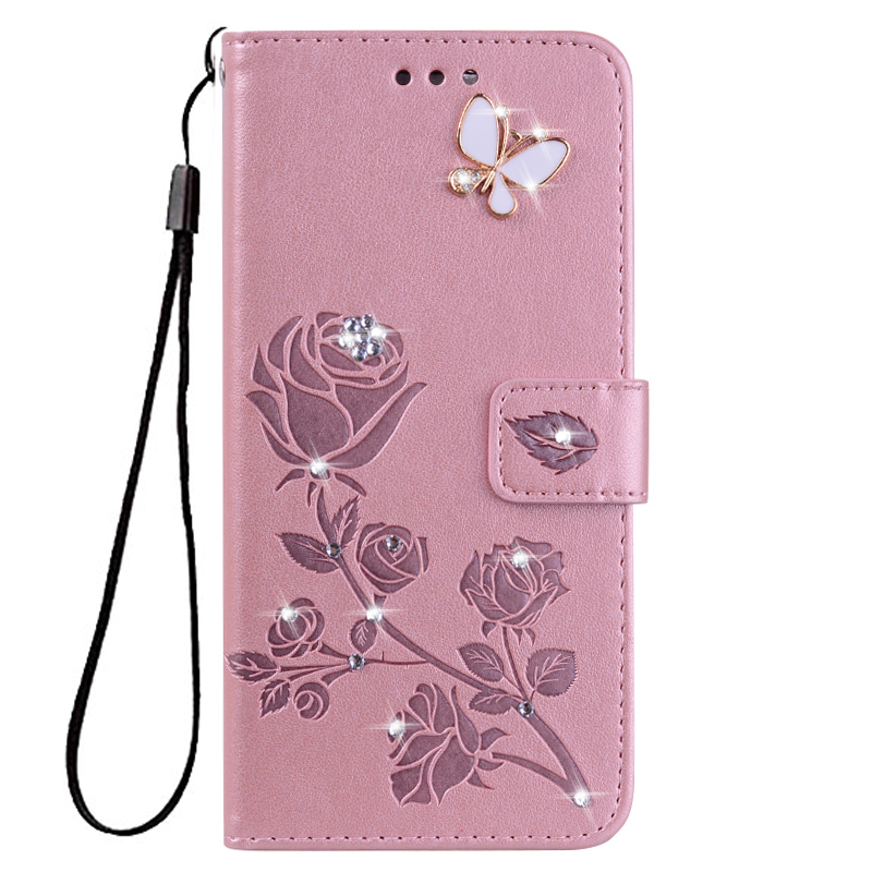 Wallet Cover for <font><b>LG</b></font> <font><b>K3</b></font> 2017 K4 <font><b>Lte</b></font> K5 K7 M1 X220DS Flower Leather Flip <font><b>Case</b></font> for <font><b>LG</b></font> K8 Plus K9 2018 LV3 <font><b>Phone</b></font> <font><b>Case</b></font> image