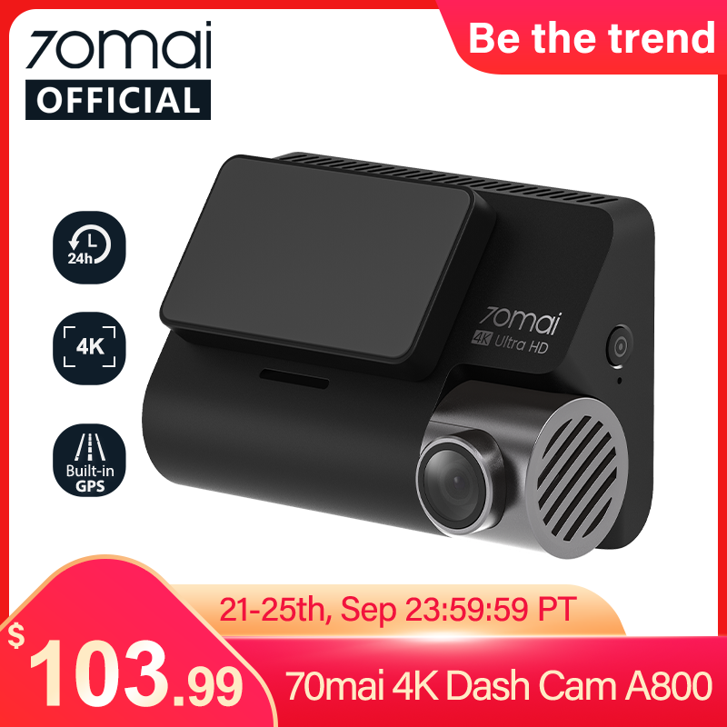 70mai 대쉬 캠 4K A800 붙박이 GPS ADAS 4K 사진기 UHD 영화관 질 심상 24H 주차 Monitior 소니 IMX415 140FOV