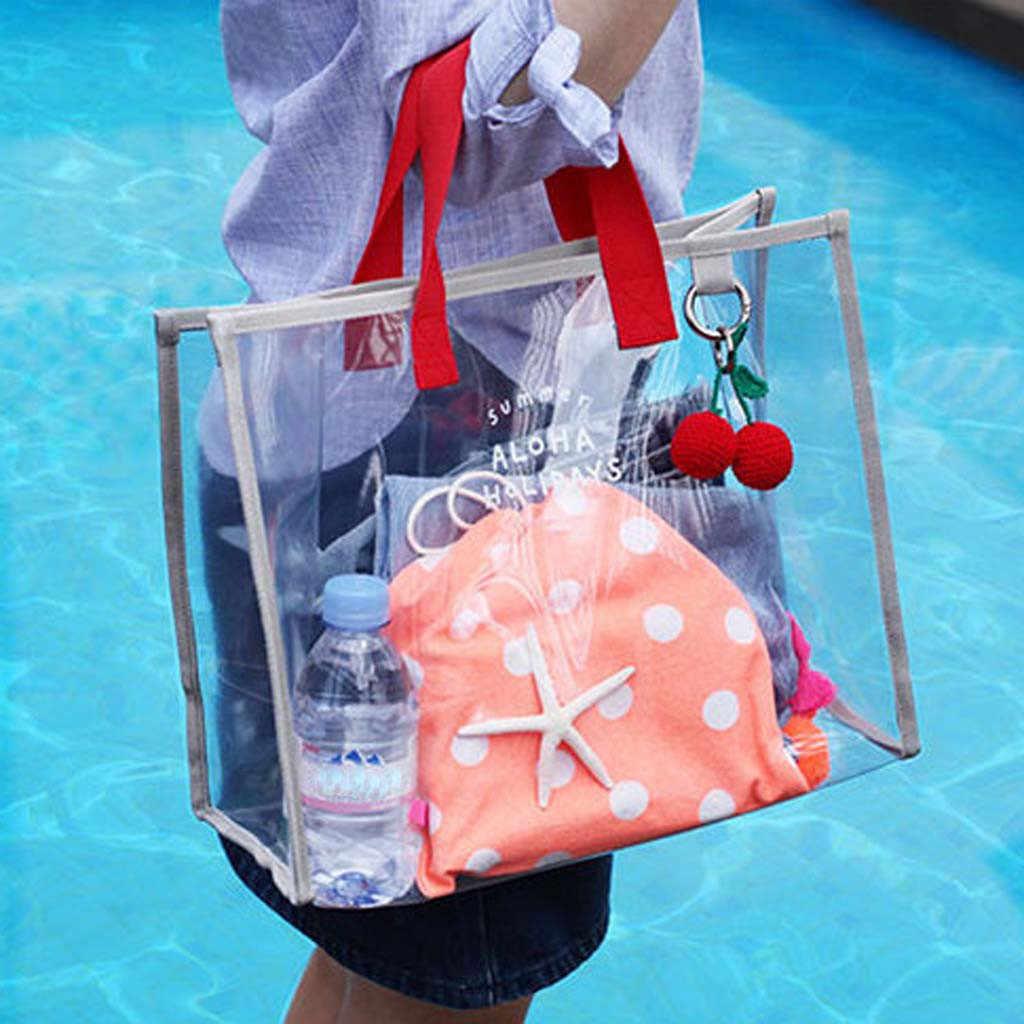 2019 Primavera Verano nuevo fresco verano transparente PVC bolsa de natación de moda al aire libre viajes playa viaje escalada bolso # YY