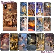 Babaite Winter Light Snow Pattern TPU Soft Phone Case for XiaoMi MI 6 plus A2 8 LITE 8 8SE 9 9SE MIX2 Cellphones(China)