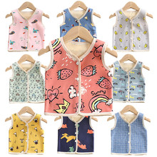 Girls Vest Kids Vest Sleeveless Jacket Children's Clothing Waistcoats for Boys Cotton Winter Autumn Toddler Outwear Jacket(China)