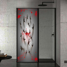 Horror Sticker Halloween Bloody Ghost Handprint Creative 3d Door Home Decor Wall For Party