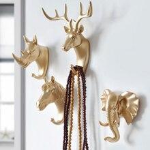 Hanger Keys Creative Hanging Hook Holder Wall Home Strong Seamless Sticking Decorative Animal Hooks