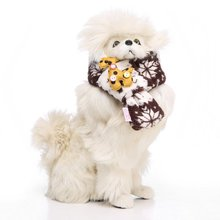 Winter Warm Fuzzy Cat Dog Scarf Year Soft Block Pet Puppy Holiday Neck Accessory