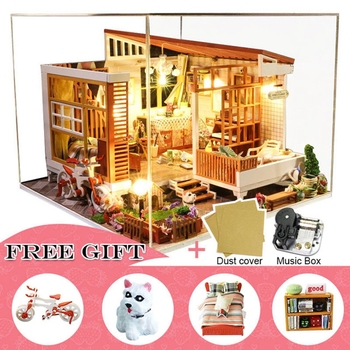 Casa Doll House Furniture Miniature Dollhouse DIY Miniature House Room Box Theatre Toys for Children Casa Dollhouse A04B.txt фото