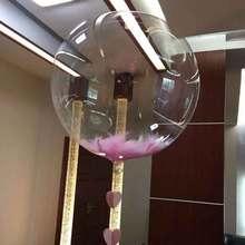 5pcs/lot 18 36inch DIY Wedding Birthday Party Decoration  Bobo Balloons Feather Transparent PVC Balloon Helium Inflatable Balls