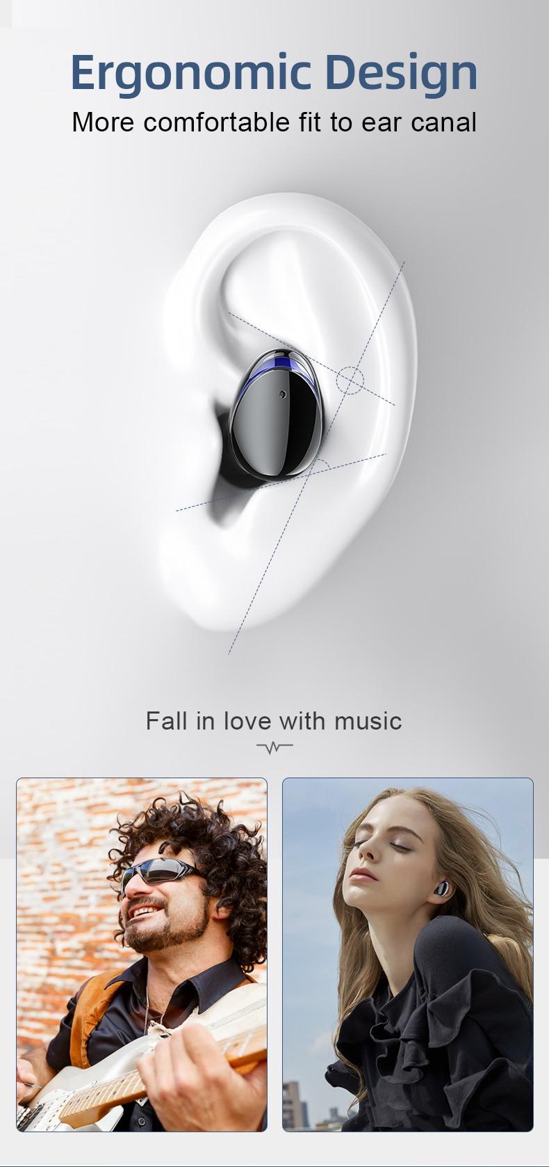 HJCE T8 TWS Wireless Bluetooth Earphones 7