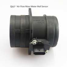 цена на Qty 5 Air Flow Mass Meter Maf Sensor AFH6037 For Golf Passat CC Sharan A3 A4 A5 A6 Q3 Q5 Q7 TT Seat 06J 906 461 D