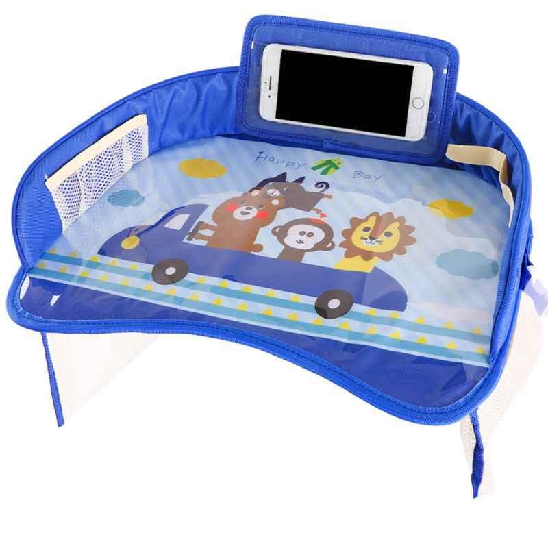 Placa de bandeja do carro do bebê à prova dportable água portátil pintura comer mesa para crianças assento segurança carro brinquedos titular armazenamento