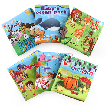 Soft Cloth Books Rustle Sound Infant Books Baby Books Early Cognitive Development Educational Toy
