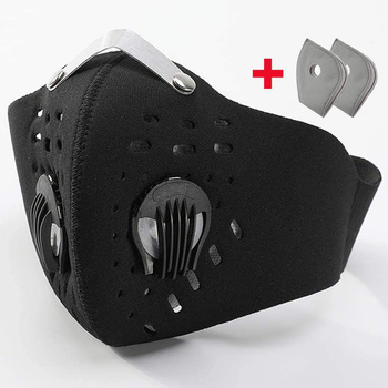 Anti Dust Face Mask Anti-Pollution With Filter mask Activated Carbon PM 2.5 Sports Cycling Outdoor Running face Filter mask