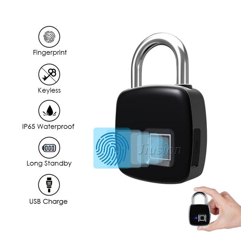 Digital Smart Fingerprint Door Lock Intelligent Electronic Cerradura USB Rechargeable Keyless Padlock Security Luggage Case Lock
