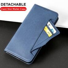 Çıkarılabilir kart yuvası cüzdan kılıf için Oneplus 9 8 7T 7 Pro 8T Nord N10 5G N100 kapak cüzdan standı anti vurmak kapak