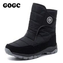 GOGC المرأة الأحذية النسائية الشتاء الأحذية الأحذية مريحة أحذية برقبة طويلة مقاومة للماء للنساء الأحذية الدافئة الشتاء الأحذية G9915