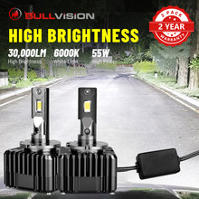 BULLVISION ukrył reflektory D1S D2S D3S D4S D5S D8S 30000lm CSP chipy 55W balast samochodów ksenonowe lampy kompatybilne reflektory D1R D2R D3R