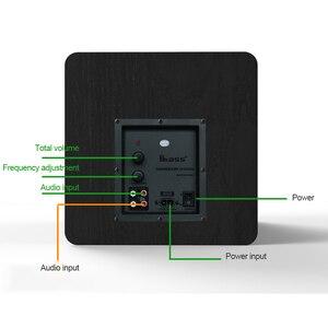 Image 3 - Haut parleur de basse Pure 6.5 pouces 100W grande puissance Subwoofer Home cinéma haut parleur pour ordinateur TV lecteur de musique bois haut parleurs noirs